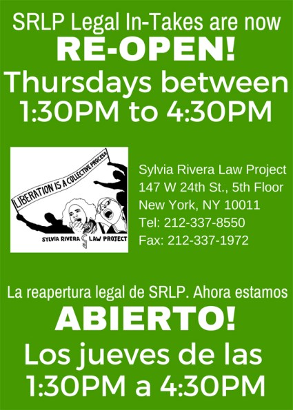 SRLP In-Take Flyer
