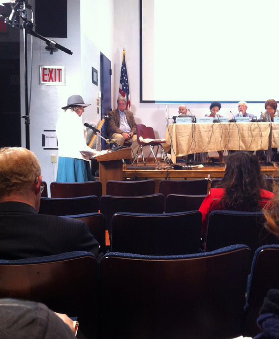 Natalia gives her testimony at the Board of Corrections hearing