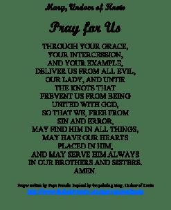 Novena Prayer Our Lady Undoer of Knots