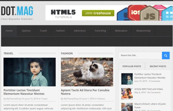 MyThemeShop DotMag WordPress Theme