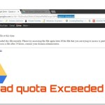 Download quota is exceeded