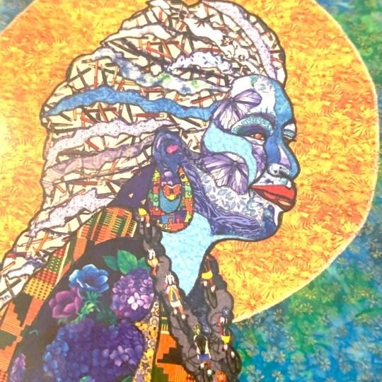 Toni Morrison notecard with art and bio on the back. Art by Kisasi Ramsess, Los Angeles black artist. Custom framing at Serengeti Gallery.
