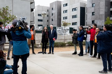 The Special Rapporteur visited a housing block in Torrejón, outside Madrid. © Bassam Khawaja 2020