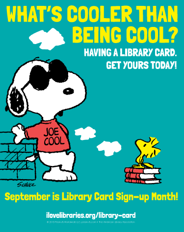 September is National Library Card Sign-Up Month