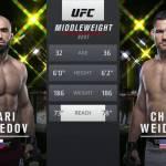 Видео боя Омари Ахмедов – Крис Вайдман / UFC Fight Night 174