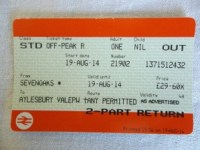 2014 Rail Ticket