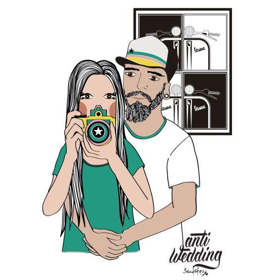 Ilustración Personalizada Antiwedding