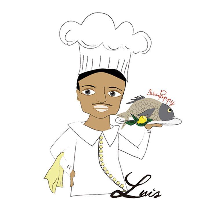 Ilustración Personalizada Cocinero