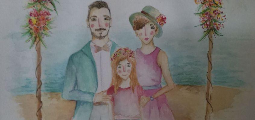 Ilustración familia Pérez-Gómez