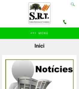 Nou diseny, nova web SRT Sindicat Reformista de Treballadors