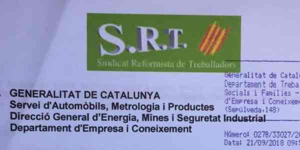 """""""SRT denuncia la calidad del servicio de ITV ante la Generalitat"""""""