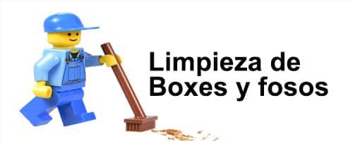 Los Boxes y fosos de los centros de trabajo se volverán a limpiar por una empresa externa