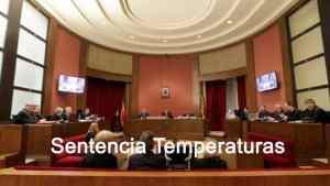 Sentencia Temperaturas