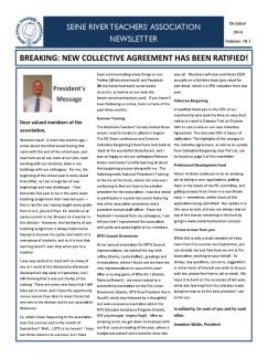 SRTA Newsletter October 2014