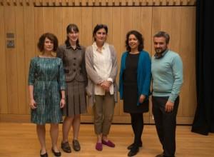 Representatives from the sub-faculties: Carolin Duttlinger (German); Jennifer Rushworth (Italian); Xon de Ros (Spanish); Claudia Pazos Alonso (Portuguese); and Dimitris Papanikolaou (Modern Greek).