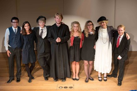 The cast of 'Never say Never' at the 2016 conference, with directors Lucy Rayfield and Julia Hartley