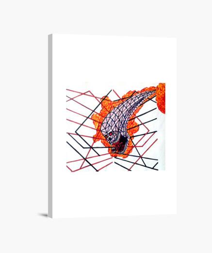 Impression sur toile Alien Tribal : cadre