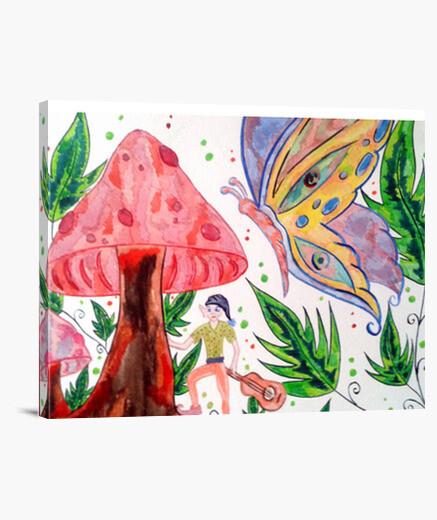 Impression sur toile Troll Papillon et forêt magique le Cadre !