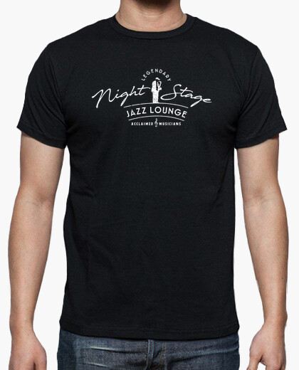 Legendary night stage-vintage jazz t-shirt