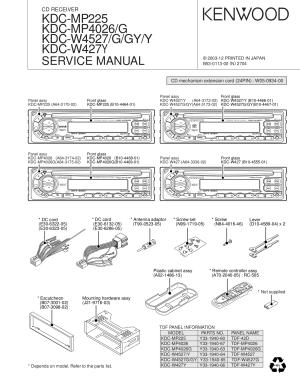 PDF manual for Kenwood Car Receiver KDC222