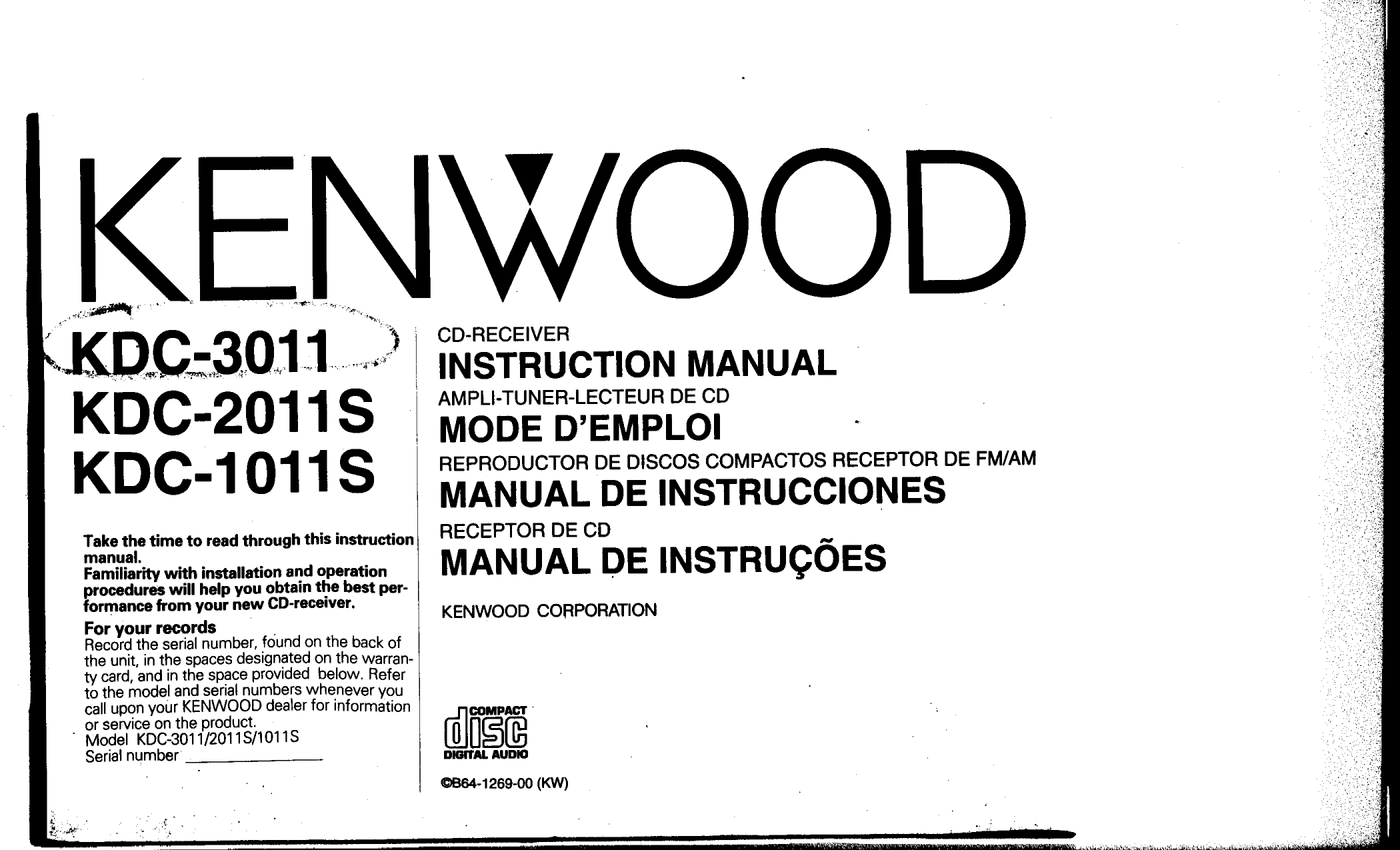 Download Free For Kenwood Kdc S Car Receiver Manual