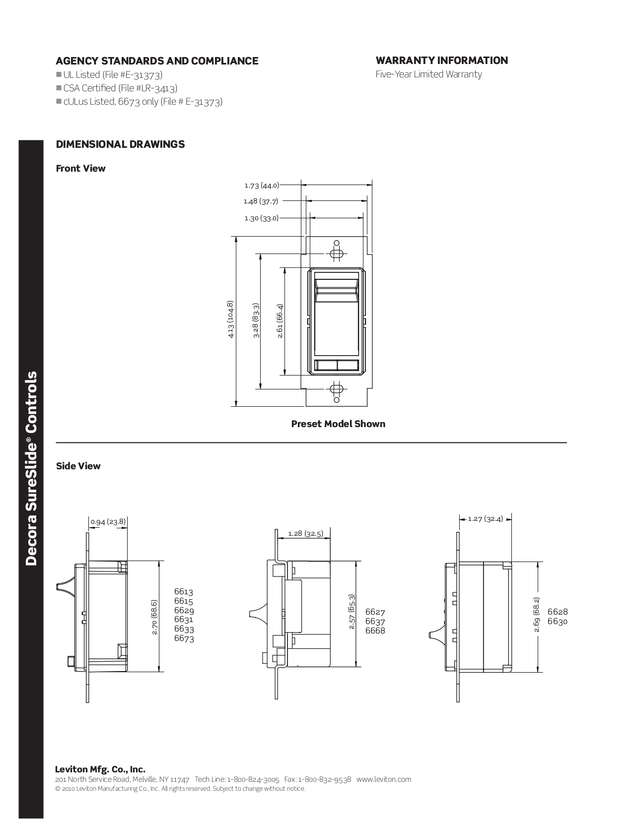 Manual For Leviton Other P Dimmers
