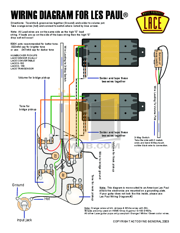 Les Paul Wiring Diagram 5 Wire - Wiring Data