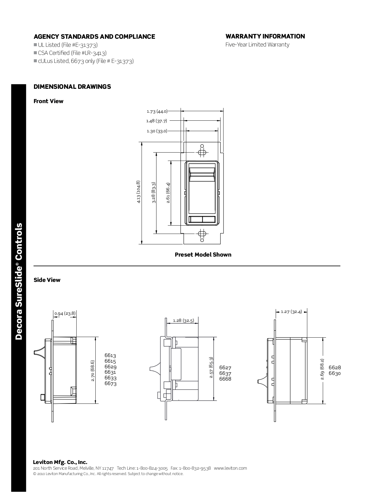 Manual For Leviton Other Sureslide L Dimmers