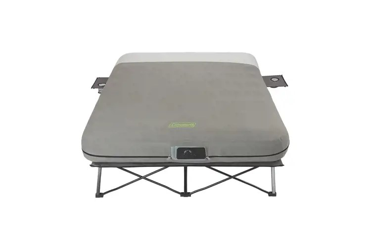Coleman Queen Frame Airbed Cot With Side Tables And Built