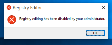Regedit Disabled