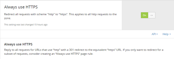 Always use HTTPS