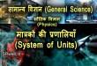 मात्रकों की प्रणालियाँ (System of Units) भौतिक विज्ञान (Physics)