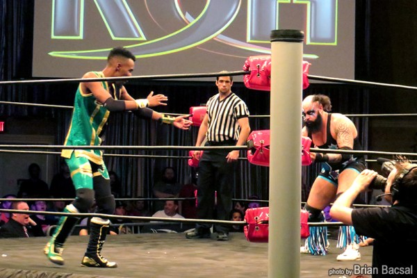 Cheeseburger in a match against a random, unnamed wrestler
