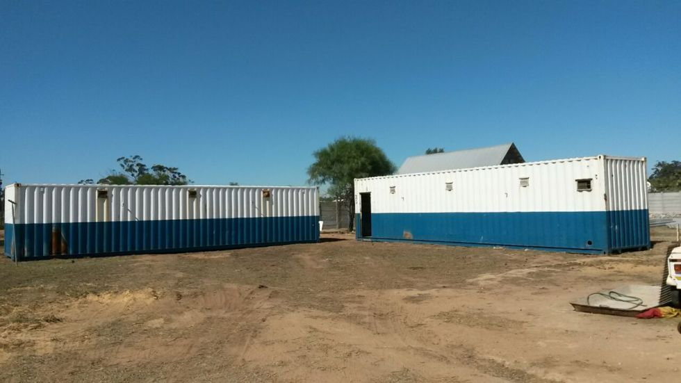 Shipping containers for house awaiting their future