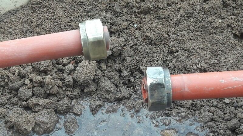 repair a damaged water pipe