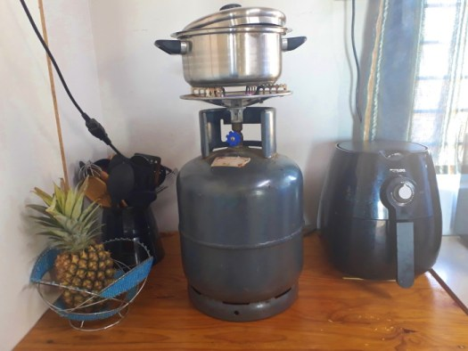 building site cooking tips gas cooker and air fryer