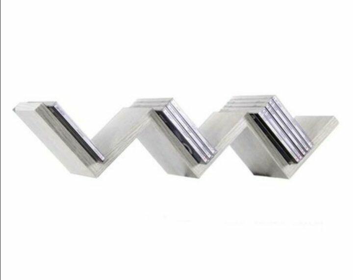 Mensola parete moderna design zig zag mensole muro scaffale 3 ripiani bianco. Mensole Da Parete Moderne Forma Zig Zag Design In Legno Bianco 59x12cm
