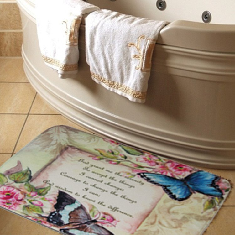 Butterfly Rug Features Serenity Prayer