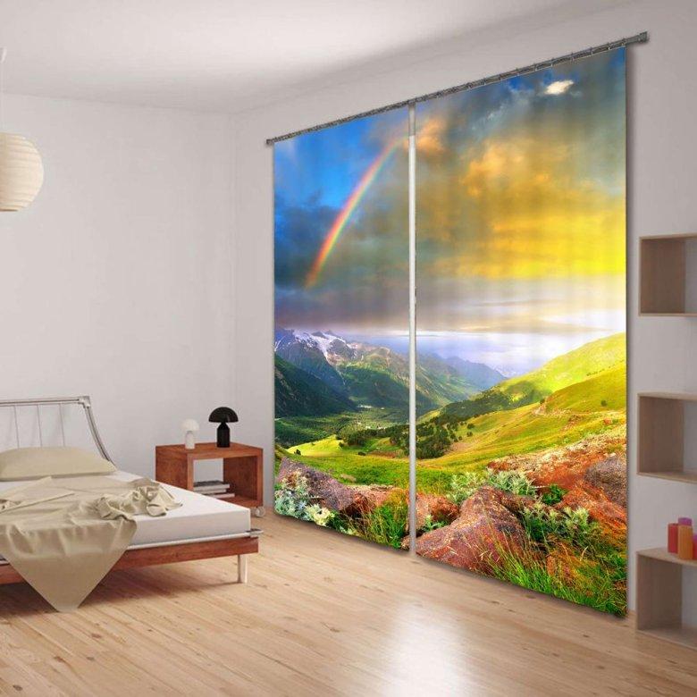 3D Beautiful Rainbow Energy Saving Curtain