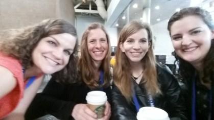 CCE students Jennifer Brandon, Alexis Pasulka (alumna), Catherine Nickels, and Ali Freibott.