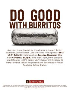 Dine-to-donate at Chipotle November 12, 2019