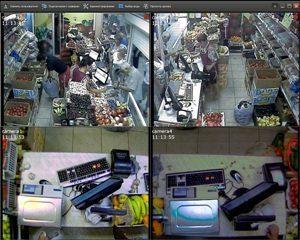 Камеры видеонаблюдения в магазине