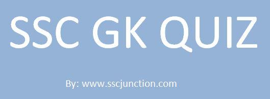 SSC GK CGL Quiz