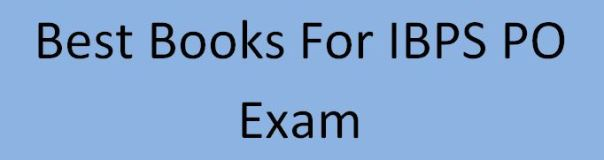 best books for IBPS PO exam