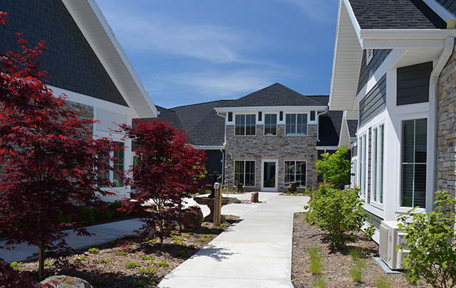 Outdoor scenic views at nursing home, assisted living, and short-term rehab in Sheboygan.