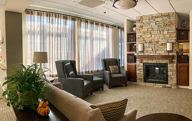 Living area in Short-Term Rehabilitation Household