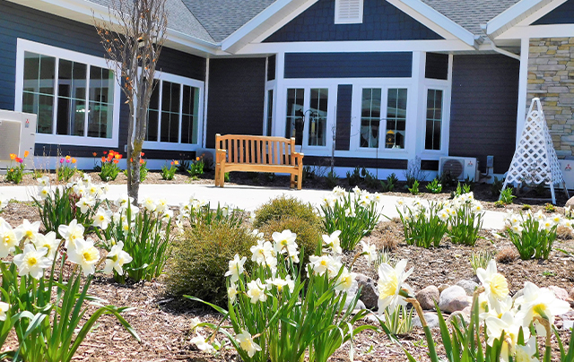 Outdoor scenic views at nursing home, assisted living, and short-term rehab at SSC.