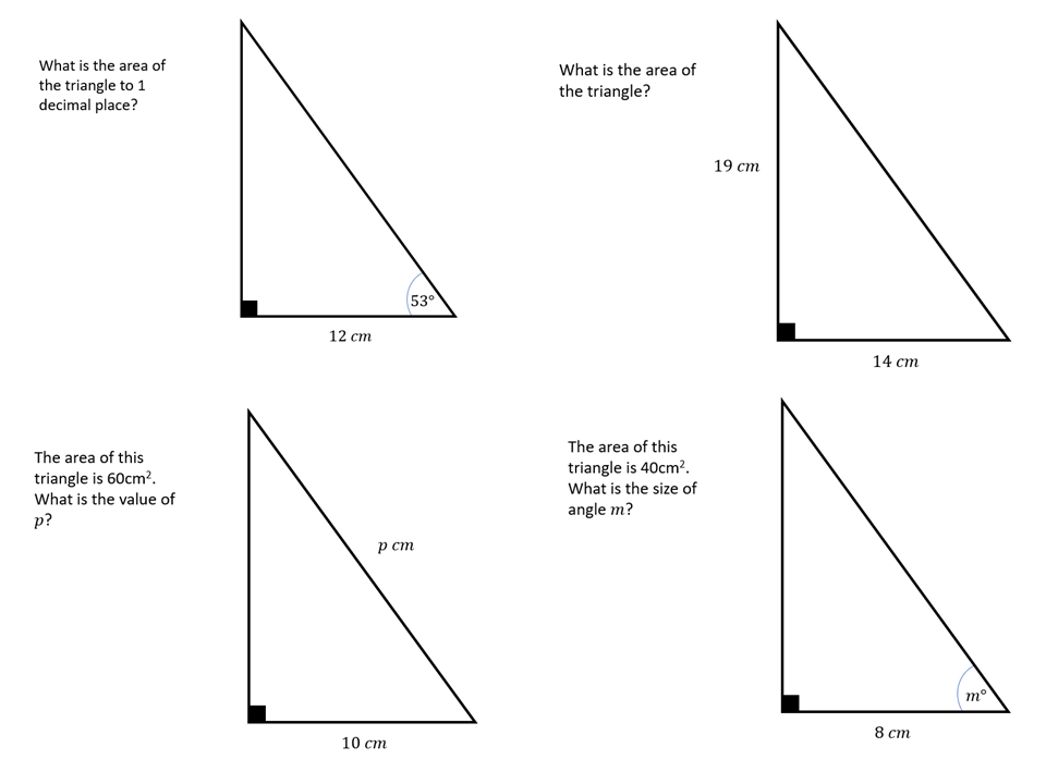 Right-angled Triangles 2