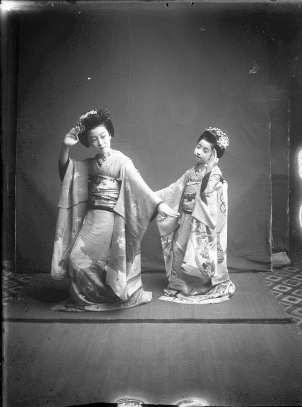 Fig. 14. Two Japanese girls in a studio, attributed to E. A. Hornel, 1893 | © National Trust for Scotland, Broughton House and Garden