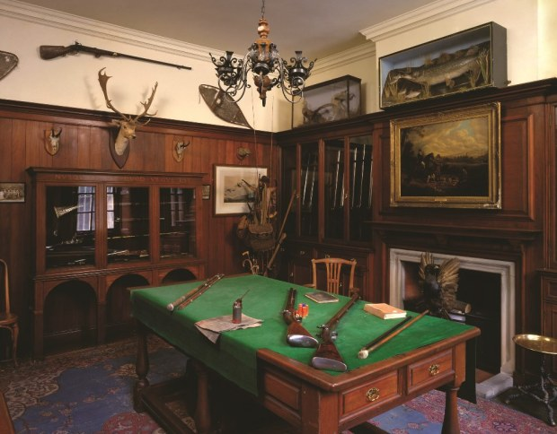 Photograph of the Gun Room at Pollok House after renovation